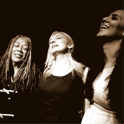 Image of Jean 'Binta' Breeze, Shruti Chauhan and Lydia Towsey.