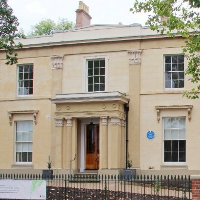 Image of the front of Elizabeth Gaskell's house