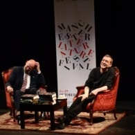 author David Mitchell in conversation with Matthew Frost MLF Trustee at RNCM
