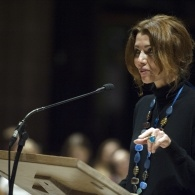 Preview of Elif Shafak delivering The Gaeia Manchester Sermon