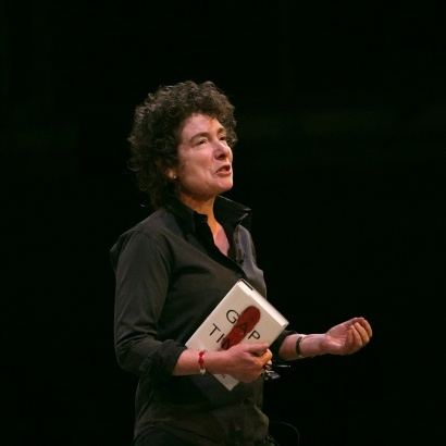 Image of Jeanette Winterson performing at the Royal Exchange