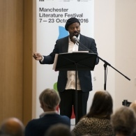 Preview of Ben Okri delivering lecture