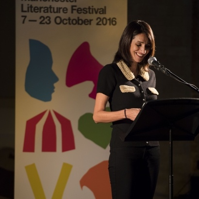 Mona Arshi performing at Poets & Players, MLF 2016