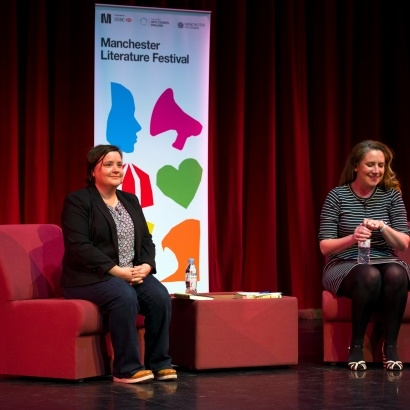 Comedian & writer Susan Calman with host Viv Groskop at MLF 16