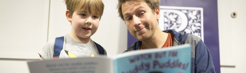 Ben Faulks signing books