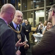 Preview of Lord Mayor at Sarah Millican drinks reception