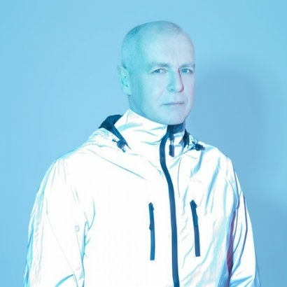 Headshot of musician Neil Tennant