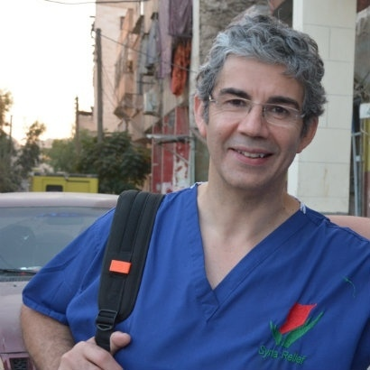 Headshot of War Doctor author David Nott in Aleppo