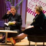 Preview of David Nicholls and Alex Clark on stage