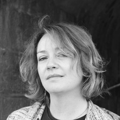Black and white headshot of author Eimear McBride