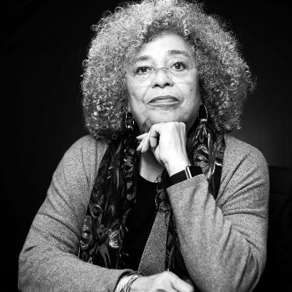 Headshot of American writer Angela Davis