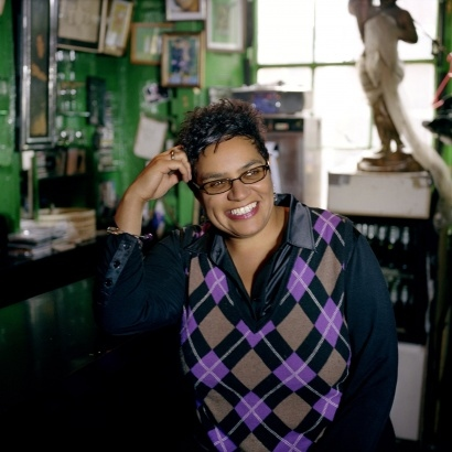 Scottish poet and novelist Jackie Kay.