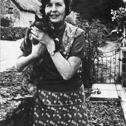 Lovely black and white photo of romantic author Barbara Pym.