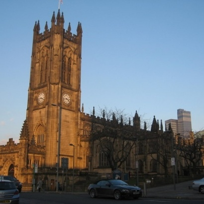 Manchester Cathedral in summertime