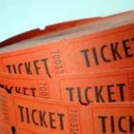 orange raffle tickets